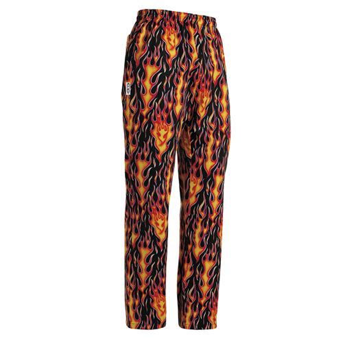 Pantalone Cuoco Unisex Coulisse in Vita Flames