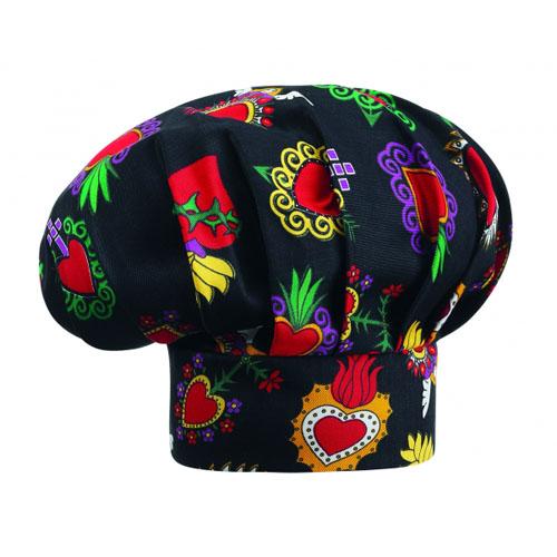 Cappello Cuoco - Modello Hearts - Taglia Unica