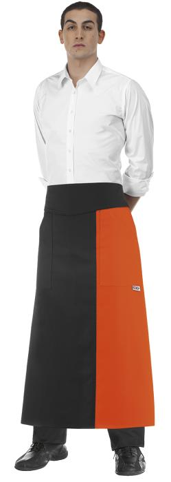 Falda Lunga Double Colore Orange cm. 90x100