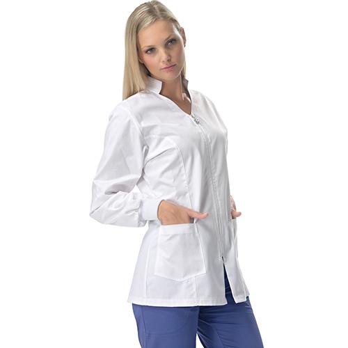 Casacca Medico Donna Colore Bianco By Amelia Modello Siviglia