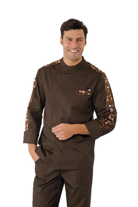 Giacca Pasticcere Isacco Modello Manhattan - Linea Chocolate