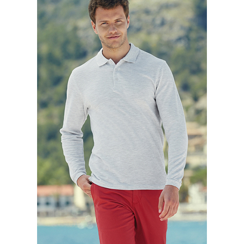Polo Fruit of the Loom Maniche Lunghe