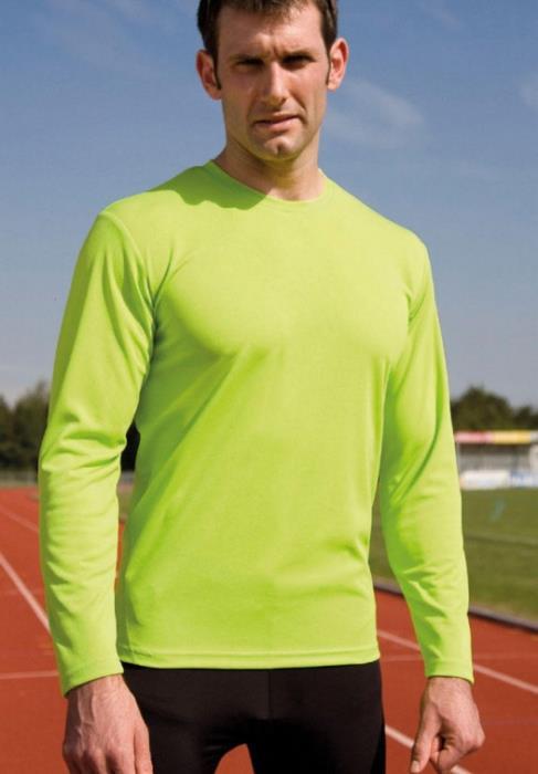 Maglia Sportiva Tecnica Manica Lunga Spiro Performance - Colore Lime Green