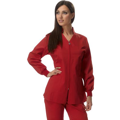 Casacca Medico Donna By Amelia Modello Siviglia - Rosso Corallo