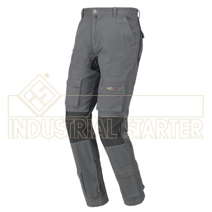 Pantalone Lavoro Multitasca Stretch On Industrial Starter - Grigio