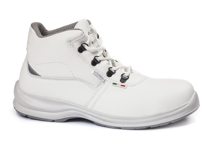 Scarpa Alta con Lacci Costanta S2 Giasco Italy Colore Bianco