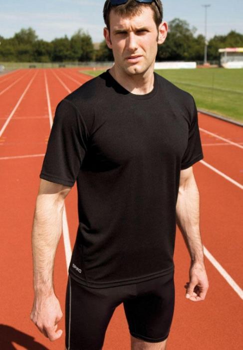 T-Shirt Sportiva Tecnica Spiro Performance - Colore Black