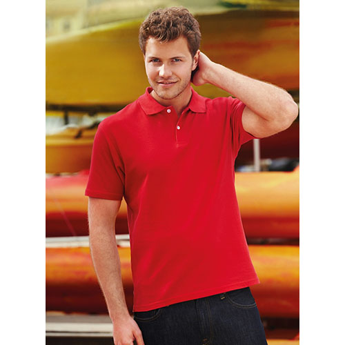 Polo in Cotone Piquè Fruit of the Loom